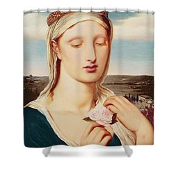 Madonna Shower Curtain by Simeon Solomon