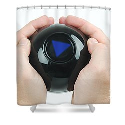 Magic Eight Ball, No Message Shower Curtain by Photo Researchers, Inc.