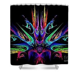Magic Fire Shower Curtain by Klara Acel