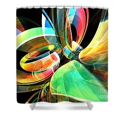 Shower Curtain featuring the digital art Magic Rings by Phil Perkins