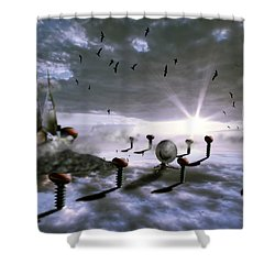 Magic Shrooms Shower Curtain by Nathan Wright