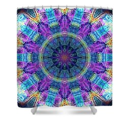Shower Curtain featuring the digital art Magic Snowflake by Alec Drake