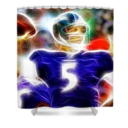 Magical Joe Flacco Shower Curtain by Paul Van Scott