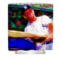 Magical Mickey Mantle Shower Curtain by Paul Van Scott