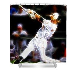 Magical Oriole Shower Curtain by Paul Van Scott
