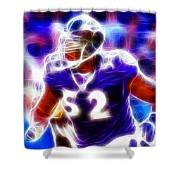 Magical Ray Lewis Shower Curtain by Paul Van Scott