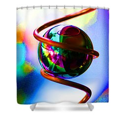 Magical Sphere Shower Curtain