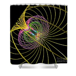 Magnetism 3 Shower Curtain