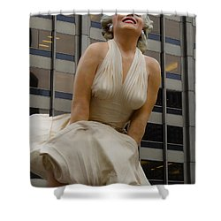 Magnificent Marilyn Shower Curtain by Julia Wilcox