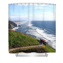 Magnificent Oregon Coast Shower Curtain by Will Borden