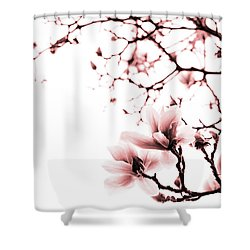 Magnolia - Monochrome Shower Curtain