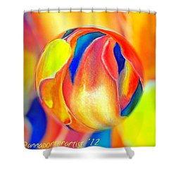 Magnolia Marble Shower Curtain