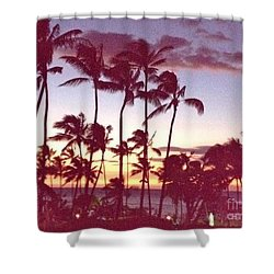 Mahalo For This Day Shower Curtain by Beth Saffer