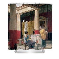 Maidens In A Classical Interior Shower Curtain by Luigi Bazzani