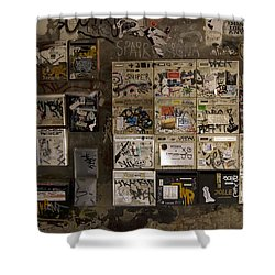 Mailboxes With Graffiti Shower Curtain by RicardMN Photography