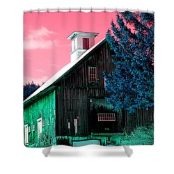 Maine Barn Shower Curtain by Marie Jamieson