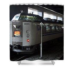 Maizuru Electric Train - Kyoto Japan Shower Curtain by Daniel Hagerman