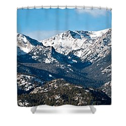 Shower Curtain featuring the photograph Majestic Rockies by Colleen Coccia