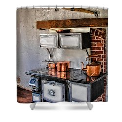 Majestic Stove No. 1 Shower Curtain by Susan Candelario