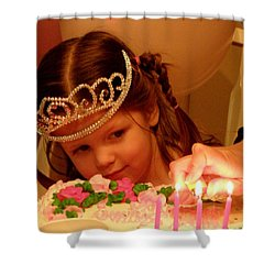 Make A Wish Shower Curtain by Lainie Wrightson