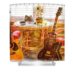 Making Music 003 Shower Curtain by Barry Jones