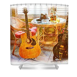 Making Music 005 Shower Curtain by Barry Jones