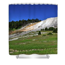 Mammoth Hot Springs Lower Terrace Shower Curtain by Louise Heusinkveld