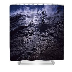 Shower Curtain featuring the photograph Mammoth Steam by J L Woody Wooden