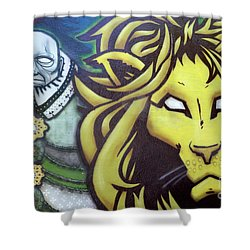 Man And Beast Shower Curtain by Bob Christopher