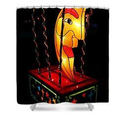 Man In The Moon Lantern Shower Curtain by Greg Matchick