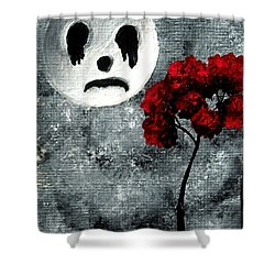 Man In The Moon Shower Curtain by Oddball Art Co by Lizzy Love