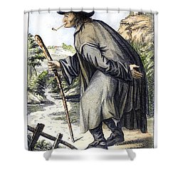 Man With Cane, C1795 Shower Curtain by Granger