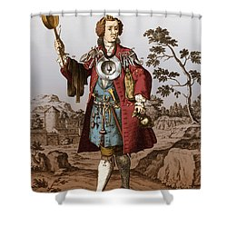 Man With Surgical Equipment Shower Curtain by Science Source