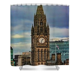Manchester Town Hall Shower Curtain by Heather Applegate