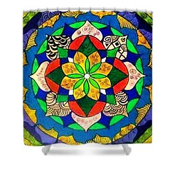 Mandala Circle Of Life Shower Curtain