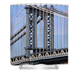 Shower Curtain featuring the photograph Manhattan Bridge3 by Zawhaus Photography