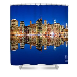 Shower Curtain featuring the photograph Manhattan by Luciano Mortula