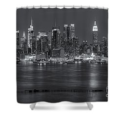 Manhattan Twilight Vii Shower Curtain by Clarence Holmes