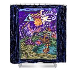 Manifest Destiny Shower Curtain by Genevieve Esson
