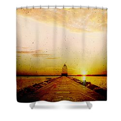 Manitowoc Breakwater Lighthouse Shower Curtain