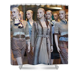Mannequins I Shower Curtain by Clarence Holmes