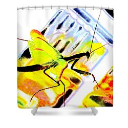Shower Curtain featuring the photograph Mantis by Xn Tyler
