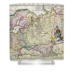 Map Of Asia Minor Shower Curtain by Nicolaes Visscher