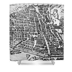 Map Of Paris Shower Curtain by German School