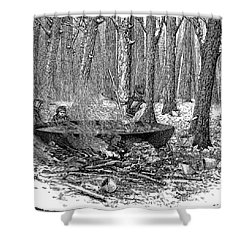Maple Syrup, 1877 Shower Curtain by Granger