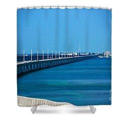Marathon And The 7mile Bridge In The Florida Keys Shower Curtain by Susanne Van Hulst