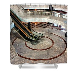 Marble Staircases Shower Curtain by Kristin Elmquist