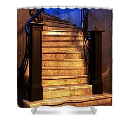 Marble Stairs Shower Curtain