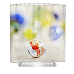 Marbles Shower Curtain by Darren Fisher