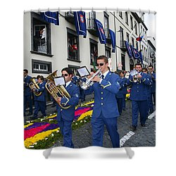 Marching Band Shower Curtain by Gaspar Avila